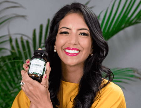 Food Babe Holding Her Probiotic